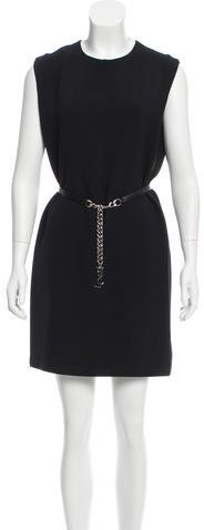 Saint Laurent Saint Laurent Belted Mini Dress