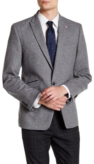 Ben ShermanBen Sherman Donegal Faux Leather Single Button Peak Lapel Jacket