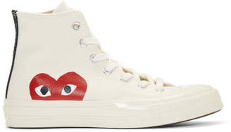 Comme des Garcons Beige Converse Edition Chuck Taylor All-Star 70 High-Top Sneakers