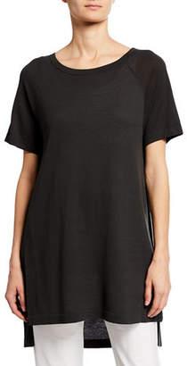 Eileen Fisher Scoop-Neck Short-Sleeve Tunic