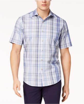 Tasso Elba Men's Plaid Shirt, Created for Macy's