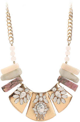 Crown Vintage Stone Bib Necklace - Women's