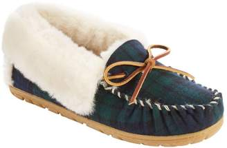 L.L. Bean L.L.Bean Women's Wicked Good Moccasins, Plaid