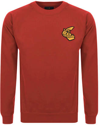 Badge Logo Sweatshirt Red