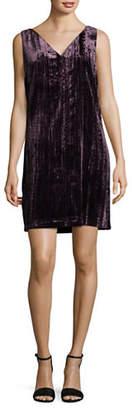 French Connection Glam Velvet Shift Dress