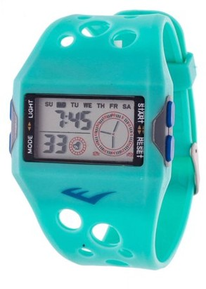 Everlast Digital Sports Watch, Turquoise Silicone Strap