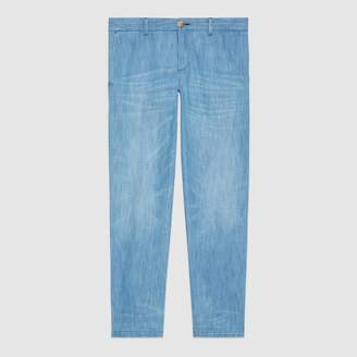Gucci Bleached denim chino
