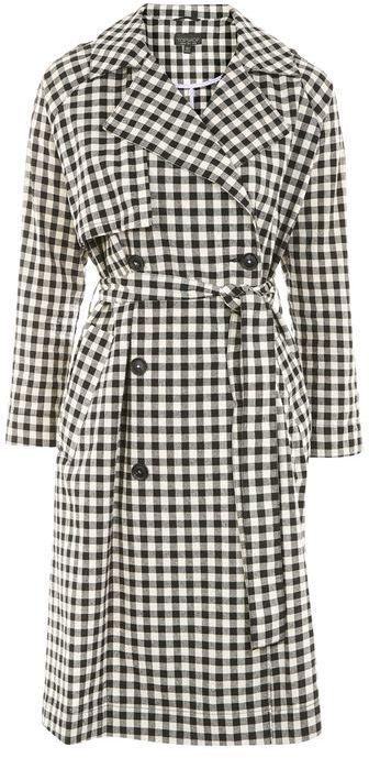 TopshopTopshop Gingham trench coat