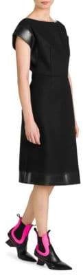 Prada Panno Patch Pocket Sheath Dress