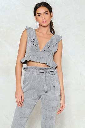 Nasty Gal Hey Wait a Check Crop Top