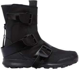 Yohji Yamamoto Jet Black High Top Sneakers