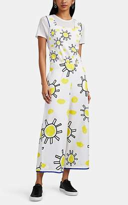 Mira Mikati Women's Sun-Doodle-Print Cotton Crop Jumpsuit - White