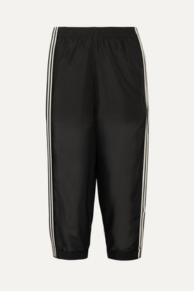 adidas Cropped Striped Mesh Track Pants