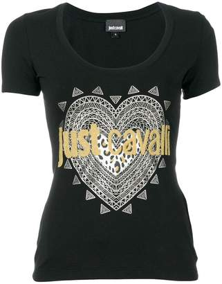 Just Cavalli embellished logo print T-shirt