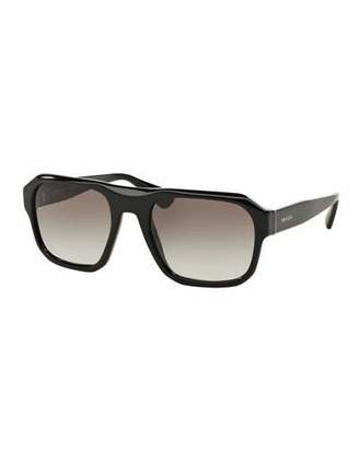 Prada Square Acetate Gradient Sunglasses, Black $250 thestylecure.com