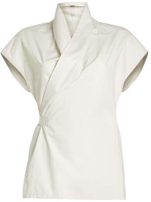 Rick Owens Wrap Shirt in Cotton
