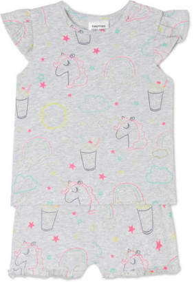 Sprout NEW Girls Essential Pyjama Set Grey Marle