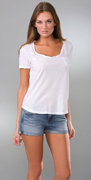 James Perse Short Sleeve Tugged Pocket Tee