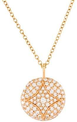 Jamie Wolf 18K Diamond Pavé Aladdin Disc Pendant Necklace