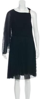 Versace Draped Knee-Length Dress