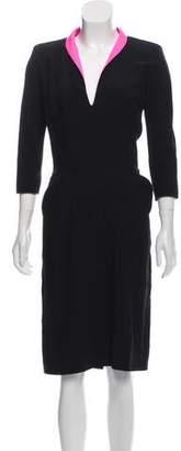 Alexander McQueen Structured Midi Dress