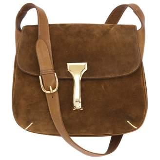 Gucci Vintage Beige Suede Handbag