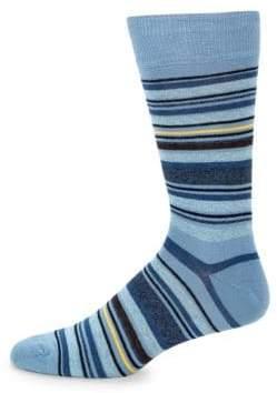 Saks Fifth Avenue Striped Cotton Mid-Calf Socks
