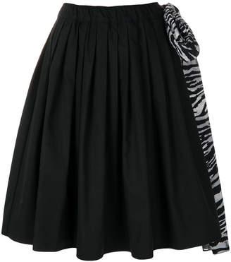 Prada oversized side tie pleated skirt