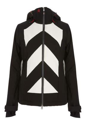 Perfect Moment Tignes Chevron-Print Shell Hooded Ski Jacket