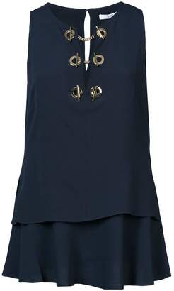 Derek Lam 10 Crosby Sleeveless Top With Grommet Detail