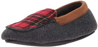 Dearfoams Boys' Plaid Moccasin with MF