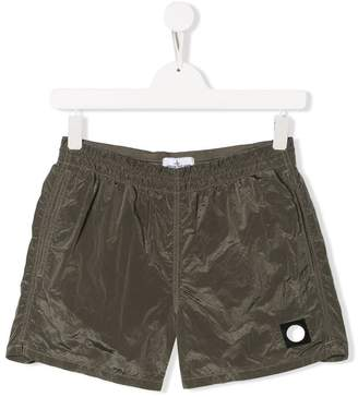 Stone Island Junior elasticated waistband shorts