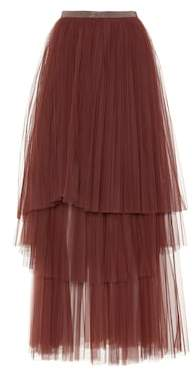 Brunello Cucinelli Tiered tulle skirt