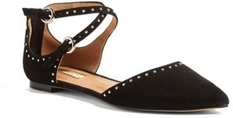 Women's Halogen 'Bristal' Ankle Strap Pointy Toe Flat $89.95 thestylecure.com