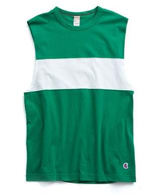 Todd Snyder + Champion Colorblock Muscle Tank in Green