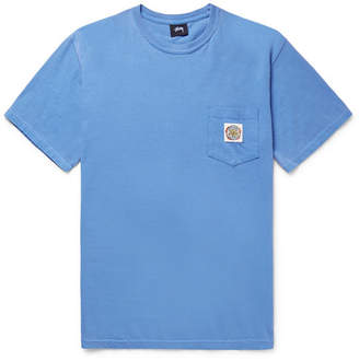 Stussy Blaze Appliquéd Cotton-Jersey T-Shirt