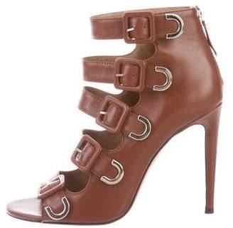 Aquazzura Leather Buckle Sandals