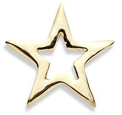 Loquet London 18k yellow gold star charm - You're A Star