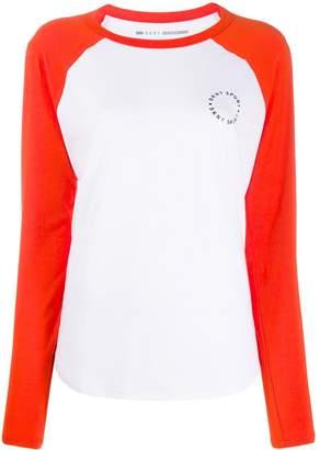 DKNY colourblock panel T-shirt