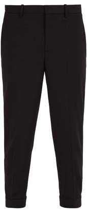 Neil Barrett Cuff Hook Wool Blend Trousers - Mens - Black
