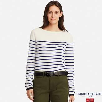 Uniqlo WOMEN IDLF Cashmere Striped Sweater