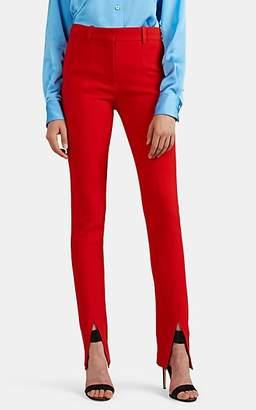 Victoria Beckham Women's Split-Hem Crepe Skinny Trousers - Tomato