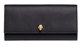 Alexander McQueen Alexander McQueen Skull leather travel wallet