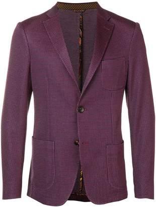Etro mini dots-woven blazer