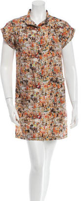 Mulberry Short-Sleeve Printed Dress $120 thestylecure.com