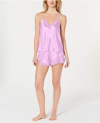 INC International Concepts I.N.C. Lace-Trimmed Cami & Shorts Pajama Set, Created for Macy's