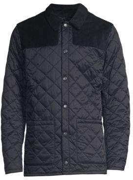 Barbour Men's Gillock Quilted Jacket - Navy - Size Small