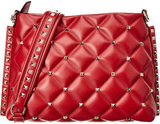 Valentino Candystud Leather Messenger Bag