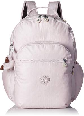Kipling Seoul L Solid Laptop Backpack, Very Berry