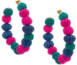 Carolina Herrera raffia beads earrings